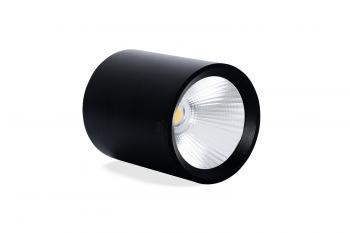 Đèn trần nồi tròn, vỏ đen Asia OBD10-01, Công suất 10W,  Ø100 x 100, AS Vàng/Trắng