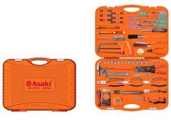 Bộ dụng cụ viễn thông Asaki AK-9789 65 chi tiết