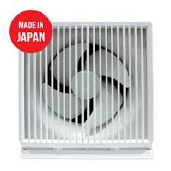Quạt thông gió Mitsubishi EX-15SK5-E Ốp tường, Cánh 15cm, lỗ 200mm, 1.3kg, màu trắng, 1 chiều