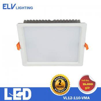 Đèn âm trần vuông ELV 12W 4000K/6500K - VL12 VMA