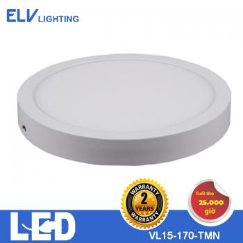 Đèn ốp ELV 15W tròn/vuông 3000K/6500K- VL15 30K TMN
