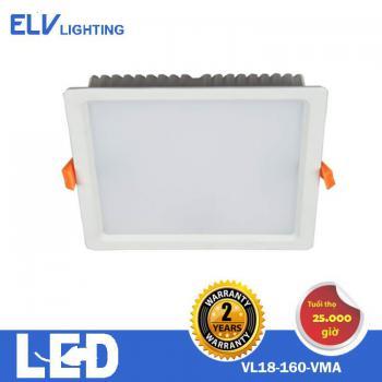 Đèn âm trần vuông/tròn ELV 18W 3000K/4000K/6500K - VL18 VMA