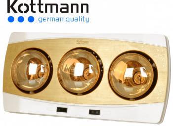 Đèn sưởi 3 bóng Kottmann K3B-Y vàng