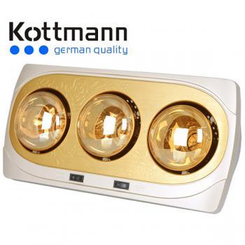Đèn sưởi 3 bóng Kottmann K3B-H vàng