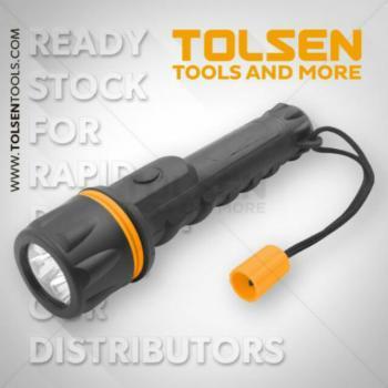 Đèn pin 3led chiếu xa 10m Tolsen 60020