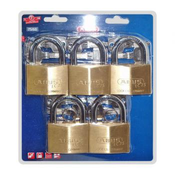 Vỉ khóa cầu Abus EC75/60 MK3, đồng, 3 chiếc 1 vỉ, dùng chung chìa