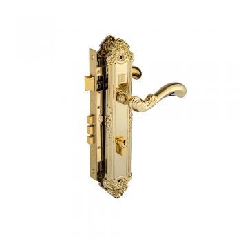 Khóa tay nắm Huy Hoàng HC 8529 Đại PVD Gold, thân Đồng ổ Huy Hoàng - Abus CHLB Đức