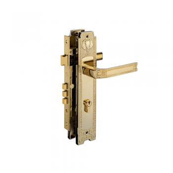 Khóa tay nắm Huy Hoàng HC 8528 PVD Gold, thân Đồng ổ Huy Hoàng - Abus CHLB Đức