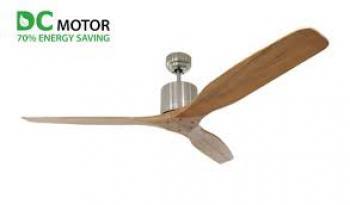 Quạt trần 3 cánh LuxAire Ritter Solid Wood WOOD/BN - Màu bạc, WOOD/OB - Màu đồng tối, Động cơ DC, Sải cánh 132cm