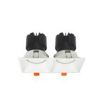 Đèn âm trần Vinaled mẫu F9 DL-F9W, Ánh sáng: 2700K/ 3500K/ 5700K; Công suất: 2*10W/ 2*15W